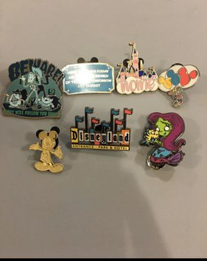 Disney Enamel Pins - Set of 7 for Sale in Gardena, CA