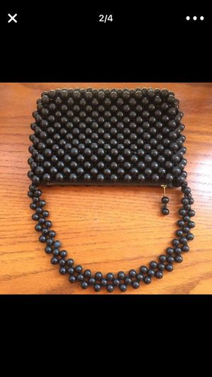 Vintage Safco Black evening bag purse sequins beans Made in Japan Excellent condition for Sale in Los Angeles, CA