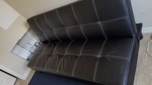 Black Leather Futon for Sale in Fort Lauderdale, FL