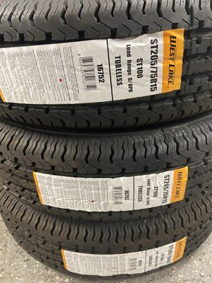 Special ST205/75R15 $59 cash 8 ply trailer tires new 8ply 205/75R15 special trailer tire for Sale in San Bernardino, CA