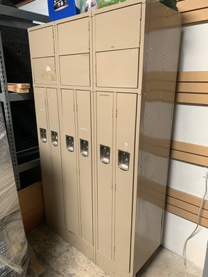 Pre-Owned/Used 2 Person Office Locker 3-Wide for Sale in Santa Fe Springs, CA