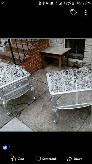 NICE CRYSTAL MIRROR HAND MADE END TABLES for Sale in Oxon Hill, MD