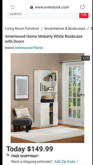 Ameriwood white bookcase for Sale in Las Vegas, NV