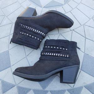 Sugar Faux Suede Deco Strap Accent Ankle Boots 8.5 for Sale in Elk Grove Village, IL