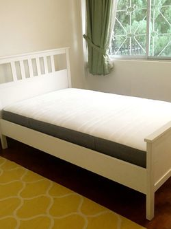 Newer Ikea Hemnes Twin Bed Frame With Temperpedic Mattress. Possibly Can Deliver for Sale in San Diego,  CA