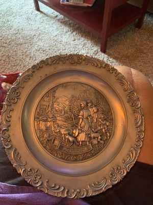 Vintage Frieling-Zinn Pewter Plate, Metal Plate, Collector Plate, Pewter Art for Sale in Wyoming, MI