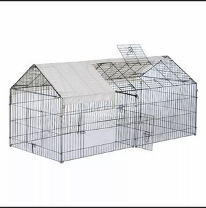 """Outdoor 87"""" Large Dog Kennel Crate Pet Enclosure Playpen Run Cage House w/Cover heavy duty frame for Sale in Plano, TX"""