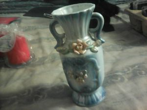 Ceramic vase and fake flower decor for Sale in Bangor, ME