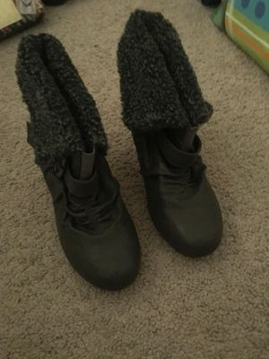 Grey Heel Boots for Sale in Charlotte, NC