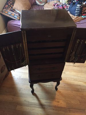 Vintage antique Victorian jewelry armoire stand holder storage for Sale in San Diego, CA