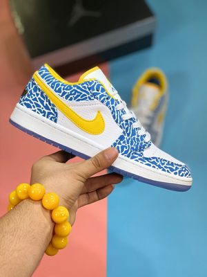 Air Jordan 1 LOW yellow and blue Joe 1 low-top casual sneakers for Sale in New York, NY