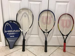 Tennis Rackets and cover for Sale in Lake Mary, FL