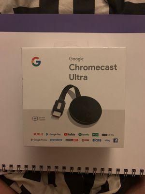 Google Chromecast Ultra - 4K HDR Capable for Sale in El Cajon, CA