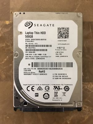 "Seagate 500GB ST500LM021 Thin HDD 7200 RPM 6 GBps / sec for laptop, desktop computer or compatible devices ( 3.5"" desktop drives also available) for Sale in Pembroke Pines, FL"