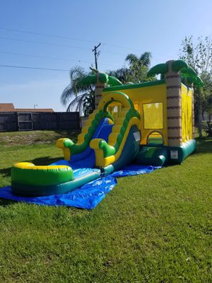 Palm Tree Water Slide Combo Unit Commercial for Sale in Bartow, FL