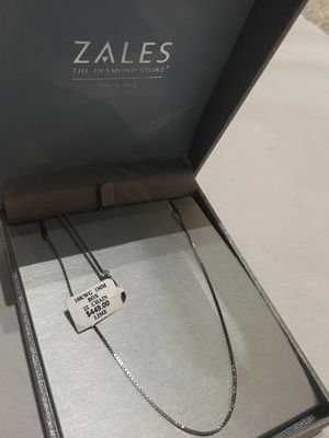 Zales 10k White Gold Box Chain Necklace - 1MM / 22 inches for Sale in Addison, TX