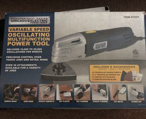 Oscillating multifunction power tool with sand, cut and scrape accessories for Sale in League City, TX