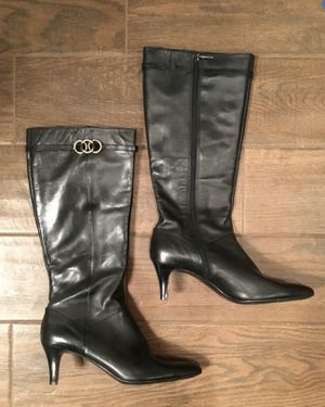 BLACK LEATHER ZIP UP BANDALINO BOOTS for Sale in Denver, CO