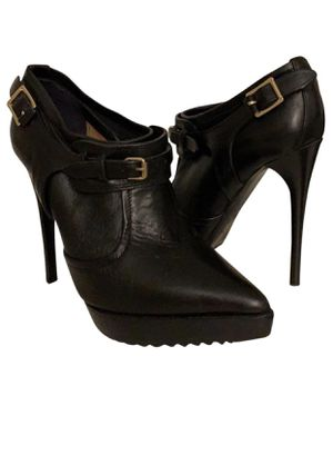 BURBERRY black leather stiletto boots 6.5 for Sale in Newcastle, WA