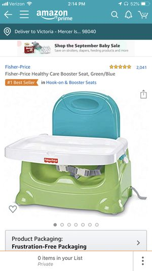 Fisher Price Booster seat for Sale in Mercer Island, WA