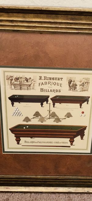 Very nice Billiards picture $25 for Sale in Riverside, CA