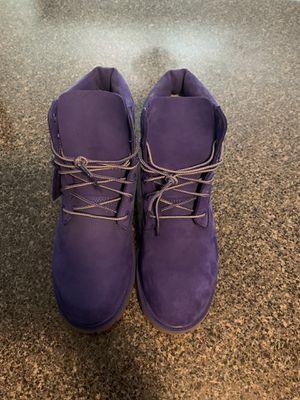 suede purple timberlands size 6 for Sale in Douglasville, GA