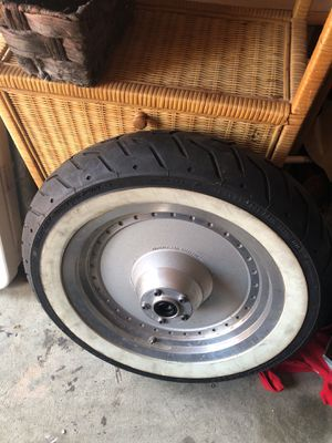 Original Harley Davidson wheel rim and tire 130/90b16 for Sale in Durham, NC