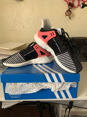 Adidas Size 9 EQT Support 93/17 Core Black Turbo Red for Sale in Paramount, CA