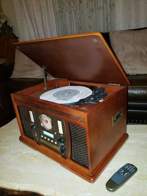 Innovative technology Wooden music center with recordable cd player for Sale in Ceres, CA