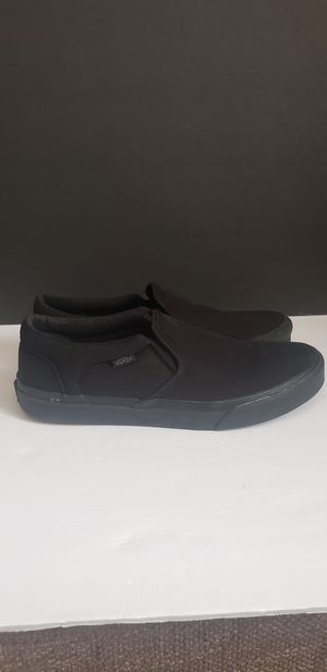 Van's mens slip on black/black 10.5 for Sale in Plainfield, IL
