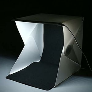 "Light Box Kit 16"" x 16"" Foldable Studio Light Box Portable Photo Studio Tent Photography Studio Tent with LED Light (White& Black Backdrops for Sale in Rancho Cucamonga, CA"
