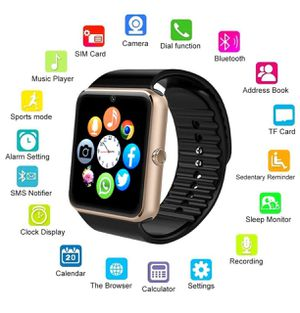 Brand new smartwatch with camera unlocked touchscreen works with any phone for Sale in Davie, FL