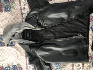 Guess Leather Jacket W/ attachable hood for Sale in San Jose, CA