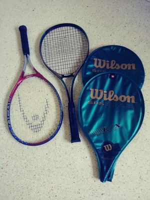 A pair of Wilson titanium technology super size tennis rackets for Sale in Hollywood, FL