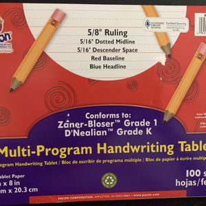 Pacon Multi-program Handwriting Tablet for Sale in Irving, TX