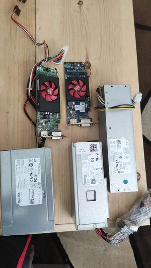Dell Optiplex Power supply and graphics cards lot for Sale in Escondido, CA