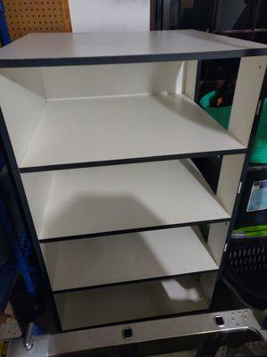 White and grey storage shelf for Sale in Virginia Beach, VA