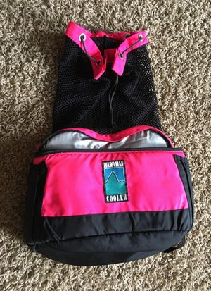 Hawaiian cooler backpack with mesh storage for Sale in St. Louis, MO
