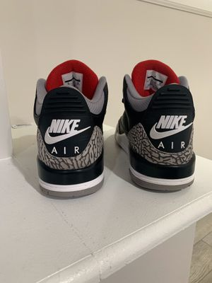 2017 Jordan 3 black cement for Sale in Capitol Heights, MD