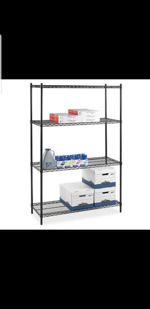 Lorell Industrial Wire 72'' H 4 Shelf Shelving Unit Starter for Sale in Houston, TX