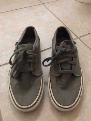 Grey men's Vans size 8.5 for Sale in Houston, TX