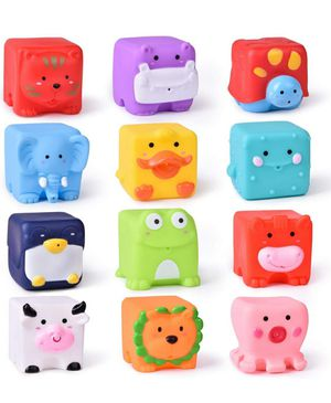 FUN LITTLE TOYS Kids Bath Toys, Soft Cube Bath Squirters, Squeeze Water Toys Building Blocks for Kids for Sale in Glendale, CA