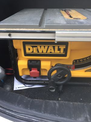 Dewalt 10 inch job site table saw in working condition for Sale in Brandon, FL