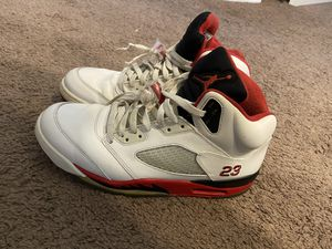 Air Jordan 5 Black Tongue Fire Red size 11 for Sale in Nashville, TN