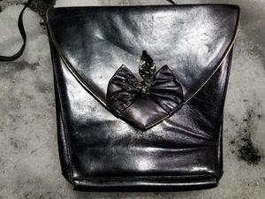 Brian Jeffrey Clutch/Shoulder Bag Black Leather Spain for Sale in Aurora, IL
