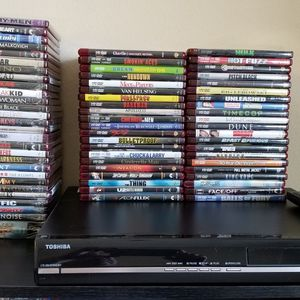 HD DvD Movies Count( 70) (28) Still Sealed Comes With A Toshiba HdDvd Player And Remote Control And Hdmi Cord. This System is owned by an Adult. for Sale in Pasadena, TX