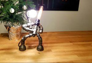 Industrial Steel Sword Robot Lamp for Sale in Grove City, OH