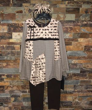 Girls size 6 boutique outift with headband for Sale in Shorewood, IL