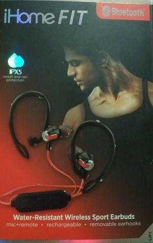 iHome Fit Wireless Headphones Bluetooth Water-Resistant Earbuds for Sale in Bentonville, AR