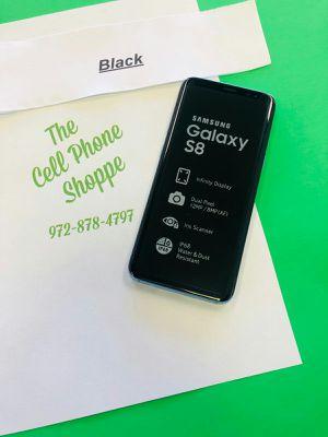 Samsung Galaxy S8 Black Unlocked Ready for att tmobile metro cricket for Sale in Carrollton, TX
